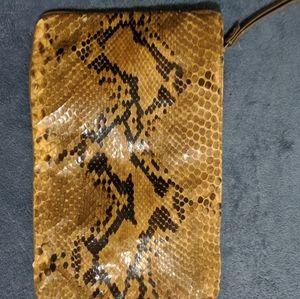 Vintage boa  snakeskin evening clutch